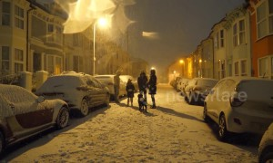 Brighton residents have fun in the snow as wintry conditions continue