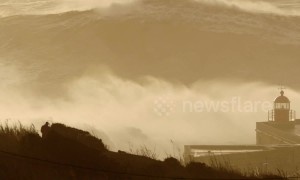 Nazaré storm waves so huge no surfers dare take them on