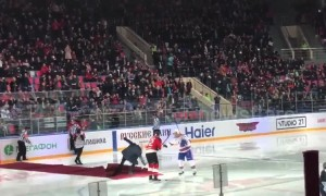 Mourinho takes embarrassing tumble at ice hockey game