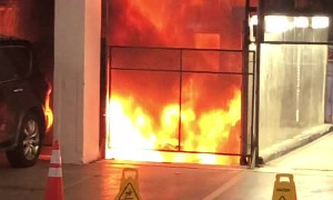 Car Bursts Into Flames After Plummeting Down Elevator Shaft