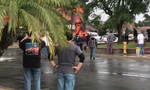 Plane Crash Sets Suburbs on Fire