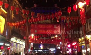 Colourful scenes in London's Chinatown as year of the pig approaches