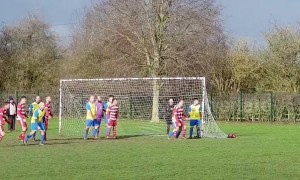 Back of the net! Bizarre moment referee stands BEHIND goal at a corner