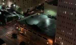 Military helicopters seen in downtown Los Angeles
