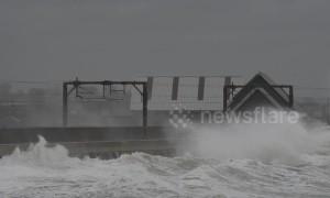 Storm Erik batters Ayrshire in Scotland