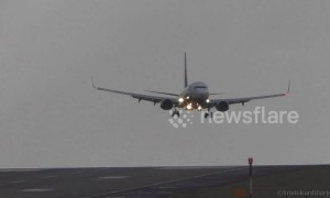 Passenger jets have difficult landing at Leeds Bradford Airport