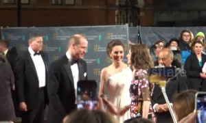 Kate Middleton and Prince William's red carpet arrival