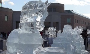 Stunning ice sculptures amaze visitors at Markham Ice and Snow Festival in Toronto
