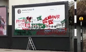 Jeremy Corbyn latest target of anti-Brexit billboard campaign