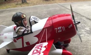 Incredibly Detailed Gee Bee R2 Pedal Plane