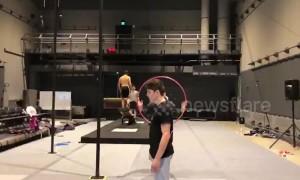 Insane backflip lands perfectly through tiny hoop