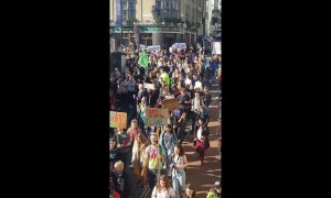 Brighton school kids walk out of class in climate protest