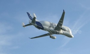 The incredible smiley Airbus Beluga XL lands on British soil for first time