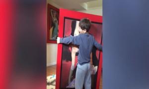 Crazy Boy Dances with a Picture