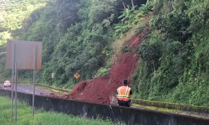 Hawaiian Highway Covered in Landslide