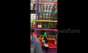 Texas woman learns the hard way that jungle gyms are for kids