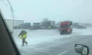 I-80 Tractor Trailer Pile Up