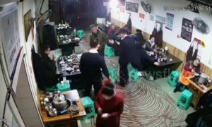 Customer throws lighter into hot pot causing explosion