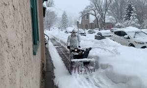 Stormtrooper Snow Blowing