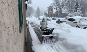 Stormtrooper Snow Blowing