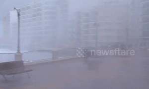 Gigantic storm thrashes against coast of Malta, flooding towns and resorts