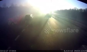 UK drivers staggered by single patch of fog on the motorway