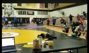 Teen Falls Through Gym Skylight During Wrestling Match