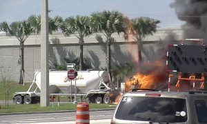 Truck Burns to the Ground in Minutes