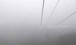 Timelapse of world's longest cable car ride that soars over Vietnamese jungle