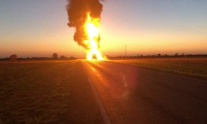 Fuel Tanker Goes Up in Flames