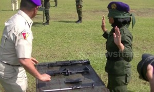 Young women in Indonesia can dismantle firearms blindfolded after short defence course