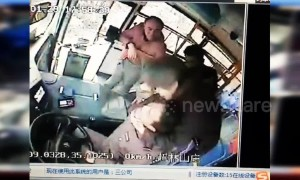 Chinese woman chokes driver with scarf after being made to stop smoking on bus