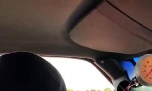 Truck Surprises Sports Car