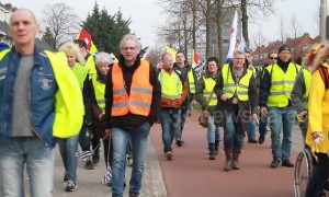 Yellow vests block busy roundabout in Netherlands