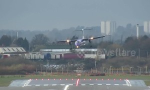 Planes struggle to land at Birmingham Airport in Storm Freya crosswinds