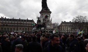 Thousands of French Algerians in Paris protest Bouteflika's fifth presidential bid