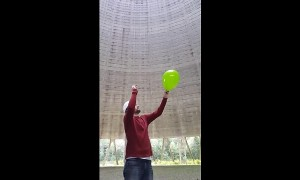 Crazy sounds inside nuclear power plant cooling tower