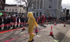 UK city celebrates Shrove Tuesday with annual pancake race