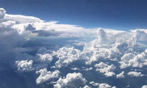 Airplane Views of a Passing Storm