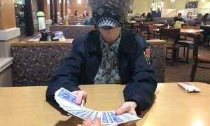 Blindfolded Magician Performs Unbelievable Card Trick