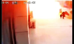 Chinese shop explodes after possible gas leak, injuring 10