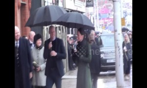 William and Kate visit Blackpool in the rain