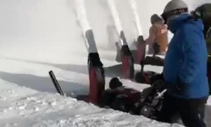 Awesome Snowblower Race in Canada