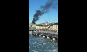 "Bus ""explodes"" in central Stockholm, Sweden"