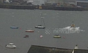 Man rescued from River Tamar in UK after boat capsized