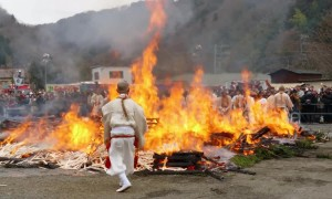 These fire-walking Buddhist monks in Japan certainly won't to be getting cold feet