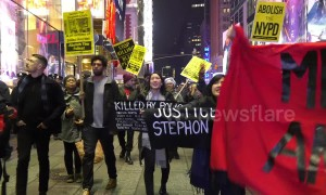 Two arrests at New York Black Lives Matter protest for Stephon Clark