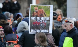 Hundreds march in London to call for enforcement of fox hunting ban
