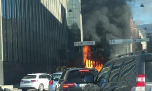 Burning Bus in Stockholm