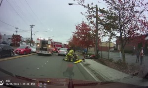 Slippery Streets in Seattle Cause Crash